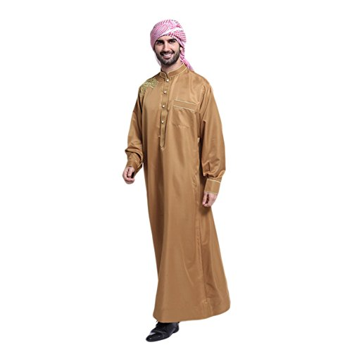 Meijunter Men Muslim Arabic Style Clothing Thobe Robe Dress Costumes Garment#804