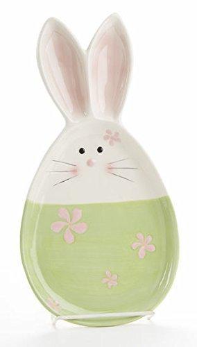 Ceramic Pastel Bunny Tray 6 in x 11.5 in
