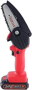 Mini Chainsaw 4-Inch Cordless Power Chain Saws