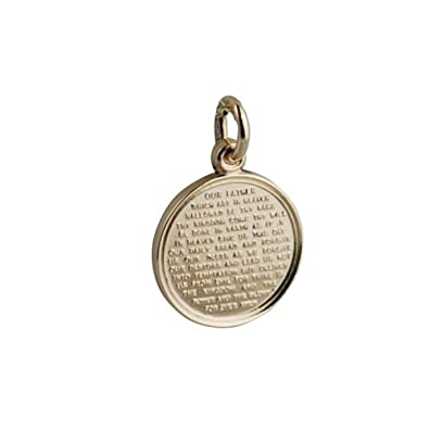 9ct gold 16mm round the lords prayer pendant amazon jewellery 9ct gold 16mm round the lords prayer pendant mozeypictures Gallery
