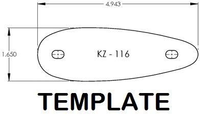 KICK-EEZ KZ-116 Pre fit recoil pad