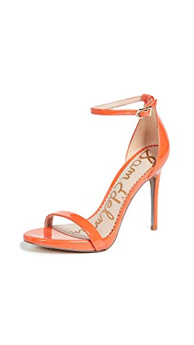 Sam Edelman Women's Ariella Sandal, Tangelo Patent, 10.5 M US - Orange Patent Sandals