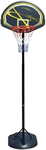 屋内バスケットボールラック 家庭用屋外バスケットボールポータブルバスケットボールスタンドユース子供スタンドリフティング スタンディングバスケットボールセット (Color : Black, Size : 1.65-2.25m)