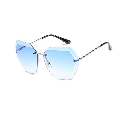 6 de la de Sol Sol Aire de Sin al Sol Ruikey Gafas Gafas de Manera de Metálicas Señora Marco Gafas Libre la waW4SZ1q
