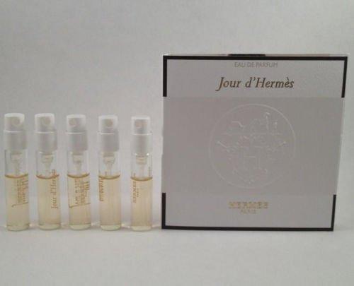 5 Hermes Jour D'hermes EDP for Women Spray Sample Vial 2 Ml/ .06 Oz Each Lot