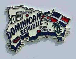 Flagline Dominican Republic - Magnet ()
