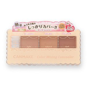 CANMAKE Color Mixing Concealer, 01 Light Beige, 1 Ounce from CANMAKE