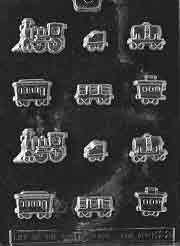 Cybrtrayd Life of the Party K022 Sugar Train Caboose Locomotive Chocolate Candy Mold in Sealed Protective Poly Bag Imprinted with Copyrighted Cybrtrayd Molding Instructions (Caboose Steps)