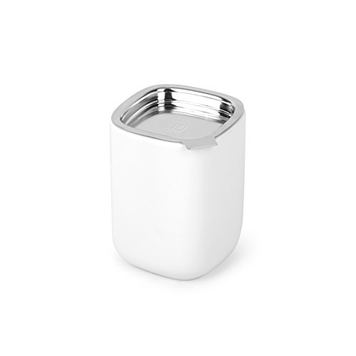 - Umbra Cutea Ceramic Canister and Tea Organizer, for Storing Loose Leaf Tea, Coffee or Sugar, White