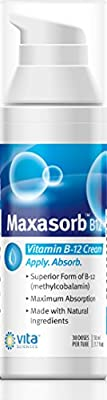 Vitamin B12 Cream Methyl B12 Supplement, Methylcobalamin b12 1000 mcg Energy, Mental Clarity, Rashes, Eczema Cream Dermatitis, Max Absorption Vitamin E Skin Beauty, Aloe Vera, Coconut Oil, Folic Acid