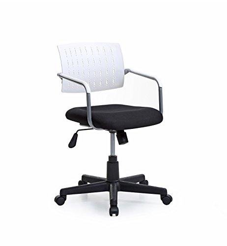 HODEDAH IMPORT Office Chair, Black/White by HODEDAH IMPORT
