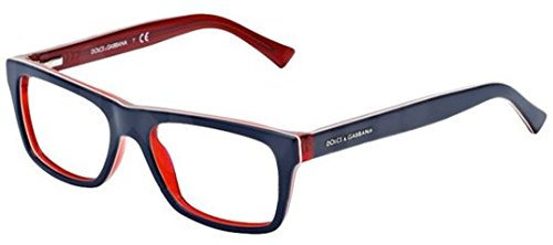 Dolce&Gabbana URBAN DG3205 Eyeglass Frames 1872-47 - Top Blue On Red