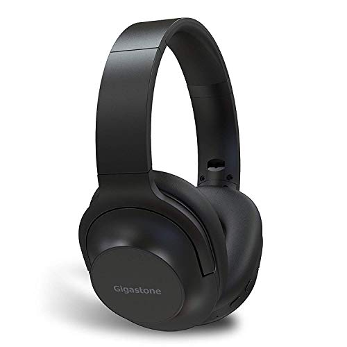 Gigastone Bluetooth Headphones Over Ear, Hi-Fi Stereo Wireless Headset Foldable Soft Earmuffs Around Ear Built-in Mic Wired Mode Compatible with Apple iPhone, Android Phones, PC, Good Looking