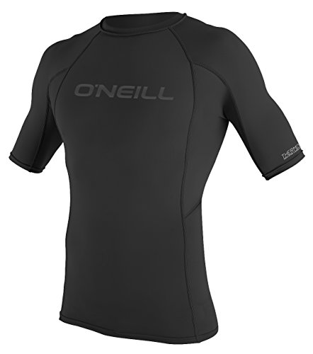 O'Neill Wetsuits UV Sun Protection Mens Thermo-x Short Sleeve Crew Sun Shirt Rash Guard, Black, X-Large Short Sleeve Thermo Guard