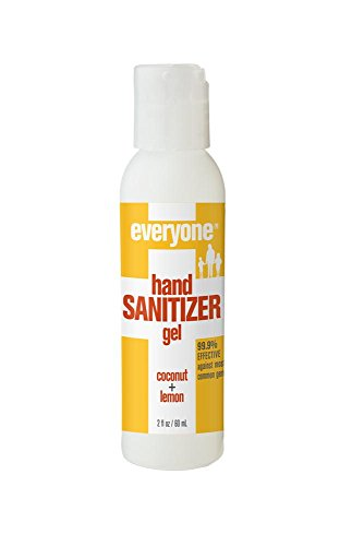 Everyone Hand Sanitizer Gel, Coconut and Lemon, 6 Count