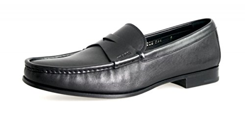 Prada Mens 2DB094 34A F0002 Leather Loafers