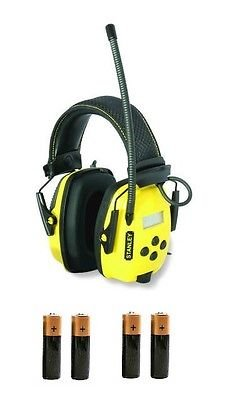 SYNC Digital AM/FM/MP3 Radio Noise Reduction Headphones Extra BATTERIES Stanley by The ROP Shop