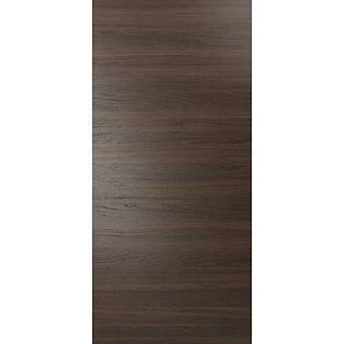 Barn Door Panel Slab 32 x 84 inches Solid Wood | Planum 0010 Chocolate Ash | Flush Modern Closet Sliding Pantry Bedroom Doors ()