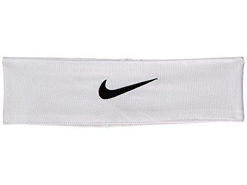Nike Fury Headband (One Size Fits Most, White/Black)