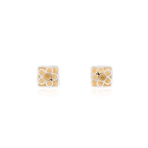 Monde Petit T1851PR - Boucles d'Oreilles Enfant - Or 2 couleurs 750/1000 (18 Carats)