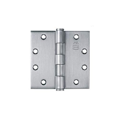 Bommer 5100-045-652 4.5in Hinge-Half Mortise-Standard Weight-Plain Bearing-Steel Base-Satin Chrome ()