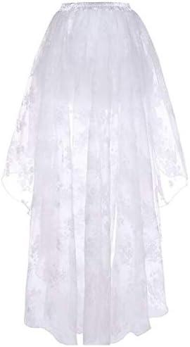 Abuyall Femme Jupe en Tulle Floral Gu/êpi/ère D/éguisement Gothique Soir/ée Cosplay