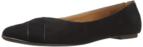 Bc Footwear Flats (BC Footwear Women's Petite V-Suede Ballet Flat, Black, 8 M US)