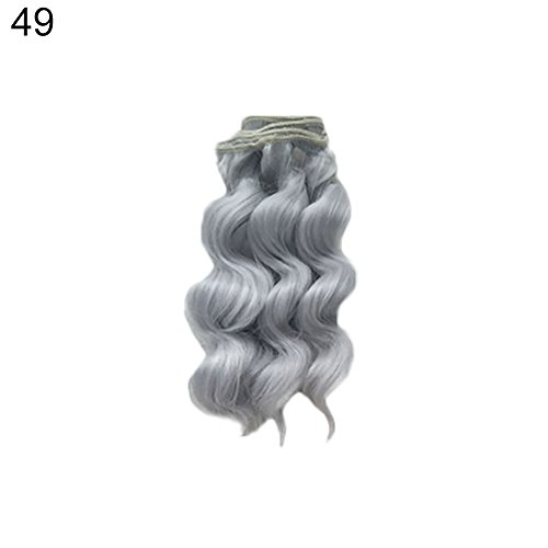 ink2055 Doll DIY Wig Curly Wavy Hair Dolls Repair Accessory Kids Children Play Toy Gift 49 for $<!--$3.02-->