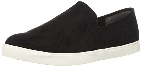Dr. Scholl's Shoes Women's Luna Sneaker, Black Microfiber Perforated, 6
