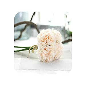 Fashion-LN 5pcs/Bunch Peony Artificial Flowers Bridal Bouquet Silk Flower for Home Party Wedding Garden Decoration,Champagne 98
