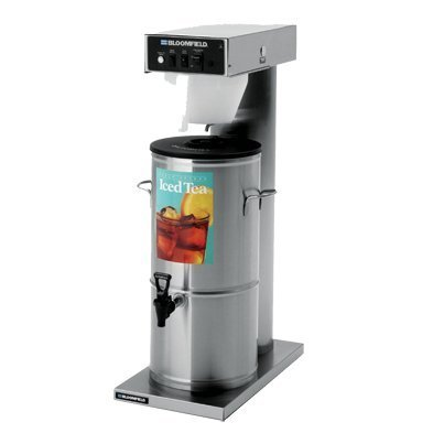 Bloomfield 8740-3/5G Automatic Iced Tea Brewer, 3/ 5-Gallon, Single, Stainless Steel, 18 3/16'' Depth, 8 1/2'' Width, 34 1/4'' Height