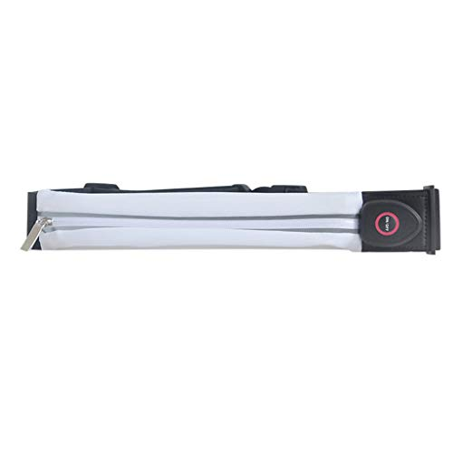 - Meet&sunshine Waist Bag, Reflective Waterproof Sport Waist Belt LED Light Pouch Fanny Pack Running Bag (White)