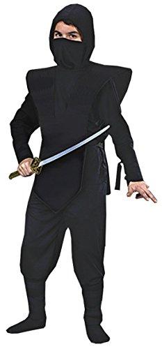 [Boys Ninja Complete Black Kids Child Fancy Dress Party Halloween Costume, S (4-6)] (Comical Fancy Dress Costumes)