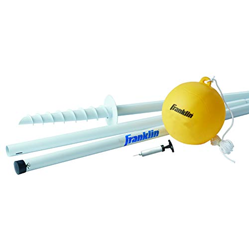 Franklin Sports Tetherball - Tetherball Ball, Rope and Pole Set - Portable Steel Tetherball Set with Easy Assembly - Classic Outdoor Game