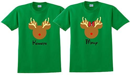 CHRISTMAS REINDEER Disney Vacation Disney Group Shirts Disney Matching Shirts Disney Personalized Shirts Disney Family Shirt]()