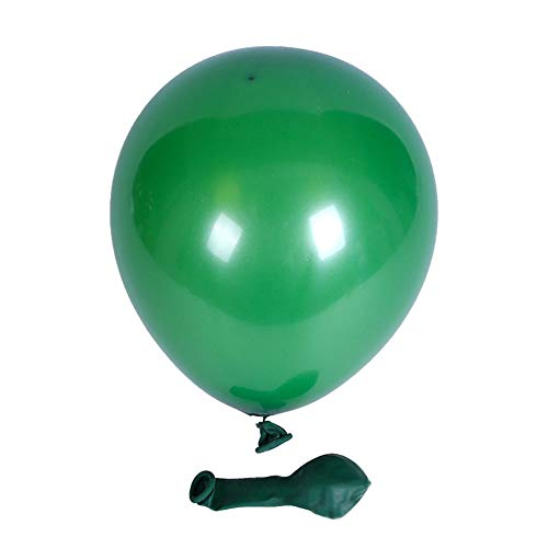5 Inch Green - KALOR 100 Pcs Pearl Latex Balloon 5 Inch for Wedding Birthday Party Baby Shower Supplies Green