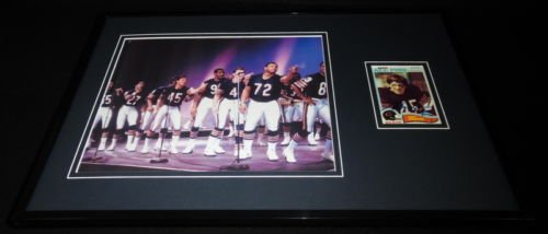 gary-fencik-signed-framed-11x17-photo-display-super-bowl-shuffle-85-bears