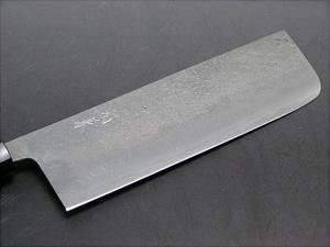 HONMAMON MOTOKANE Nakiri Hocho(Kitchen Knife for Vegetables) 165mm(ABT 6.5 Inch), Blade Edge : Shirogami Steel Sandwiched by Beautiful Satin Finished Surface Stainless Steel, Double Bevel