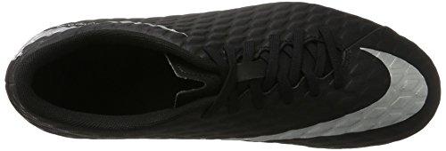 Nike Hypervenom Phade Iii Fg, Zapatillas de Fútbol para Hombre Negro (Black/metallic Silver-black-total Crimson)
