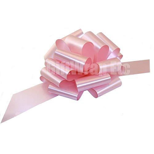 - Large Rose Petal Pink Ribbon Pull Bows - 9