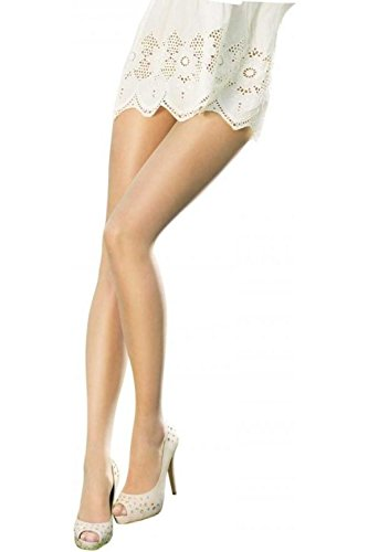 (Pretty Polly Women's 1 Pair Naturals 8 Denier Sandal Toe Tights Small/Medium Barely There)