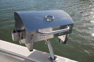 Bunker up fishin Adjustable Boat Grill Stainless Steel- Less in Shipping Buy Direct