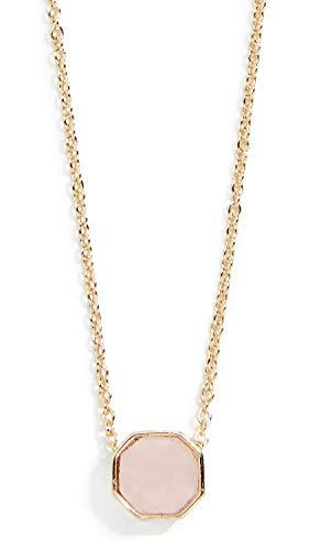 Gorjana Women's Power Gemstone Charm Necklace, Rose Quartz/Gold, One Size