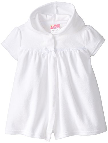 Sol Swim Baby Terry Cover-Up, White, 6-9 Months