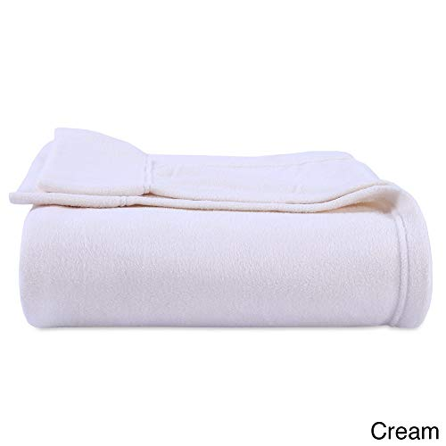 3 Piece Cream Microfleece Sheets Twin, Ivory Texture Sheet Set Micro Fleece Bedding Textured Teen Bedroom Decor Luxury Solid Color Soft Moisture Wicking Breathable Warm Durable, Polyester ()