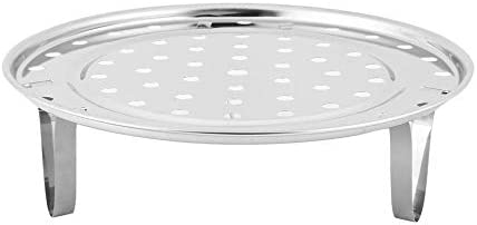 Silver Multifunctional Home Kitchen Round Shape Stainless Steel Steamer Rack Insert Stock Pot Steaming Tray Stand Cookware Tool