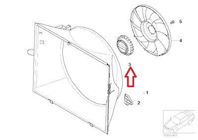 BMW Genuine Engine Cooling Fan Clutch for X5 4.4i X5 4.6is 745i 760i 745Li 760Li