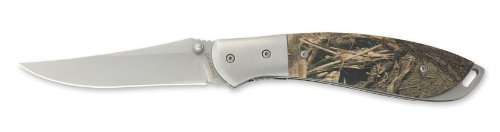 Browning 339 Dirty Bird and Trout Folding Knife, Mossy Oak Duck Blind