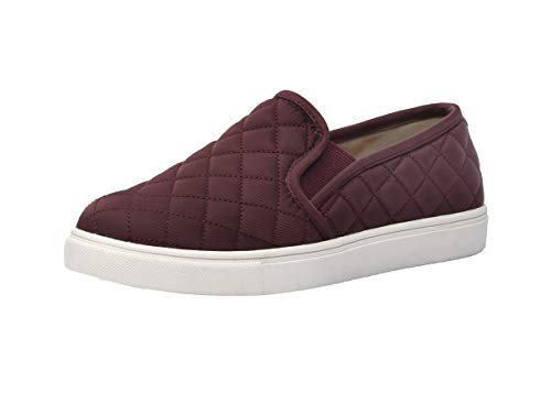 - CUSHIONAIRE Women's Reed Comfort Quilted Sneaker (7.5 M, Burgundy)