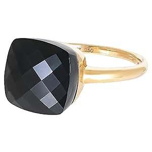 Eva Women's 18K Yellow Gold 1.00ct Black Agate Ring, Size 6.25 US - B14589